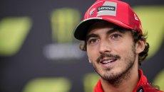 """MotoGP: Bagnaia: """"avrei voluto riguardare Aragon con Rossi per imparare di più"""""""