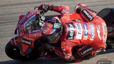 MotoGP: Bagnaia si prende anche il Warm Up ad Aragon: Nakagami 2°, Vinales 22°