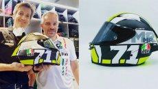 MotoGP: Rivola come Espargarò e Vinales: un casco speciale per l'AD di Aprilia Racing