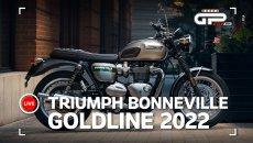 Moto - News: Triumph Bonneville Gold Line Edition 2022: classic fatte a mano