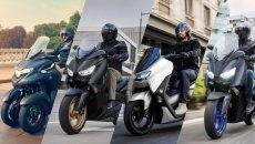 Moto - Scooter: Yamaha XMAX, NMAX, Tricity e D'elight: nuovi colori per il 2022