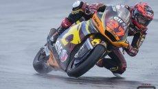 Moto2: Misano: Augusto Fernandez è il più veloce sul bagnato delle FP1, 2° Bulega