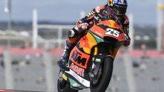 Moto2: Raul Fernandez batte Gardner nelle qualifiche di Austin, 3° Di Giannantonio