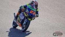 Moto3: Austin: Antonelli conduce le FP1 sul bagnato in Texas, 3° Alberto Surra