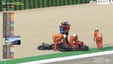 MotoGP: HIGHLIGHTS MotoGP: l'abbraccio fra Mir e Petrucci dopo la caduta