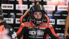 """MotoGP: A. Espargarò: """"Mi è uscito il 'giro a banana', sono vecchio per queste cose"""""""