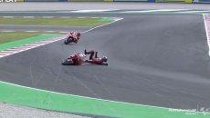 MotoGP: VIDEO La caduta di Bagnaia che ha consegnato il titolo a Quartararo