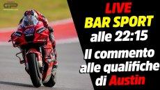 MotoGP: LIVE Bar Sport alle 22:15 - Il commento alle qualifiche MotoGP di Austin