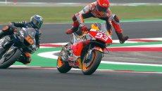 MotoGP: VIDEO - Torna la magia di Marc Marquez: salvataggio da circo a Misano