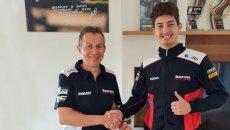 SBK: Luca Bernardi debutta in Superbike con la Ducati di Barni