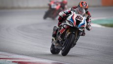 SBK: Van der Mark e BMW vincono la Superpole Race, 6° Toprak, disastro Rea