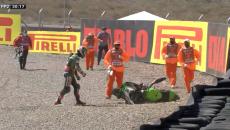 SBK: San Juan: Rea finisce a terra in FP2 e distrugge la Kawasaki!