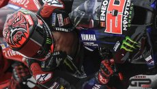 Violated rules: Quartararo's open leathers, Moto3 race brawls