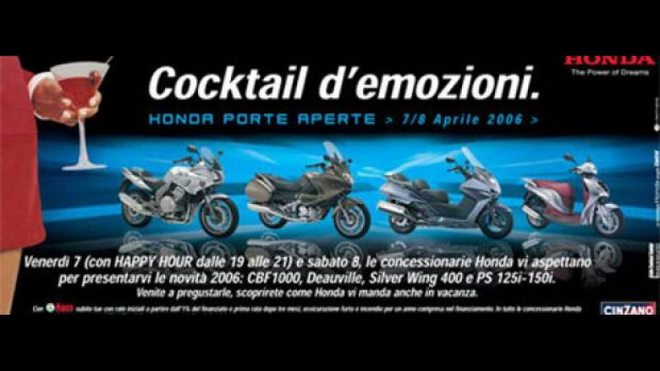 Moto - News: Honda e Triumph: porte aperte
