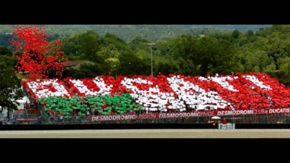Moto - News: MotoGP 2009: Tribuna Ducati al Mugello