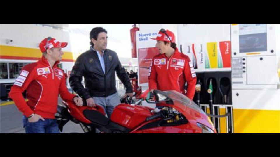 Moto - News: Pit Stop per il piloti MotoGP Ducati 2009