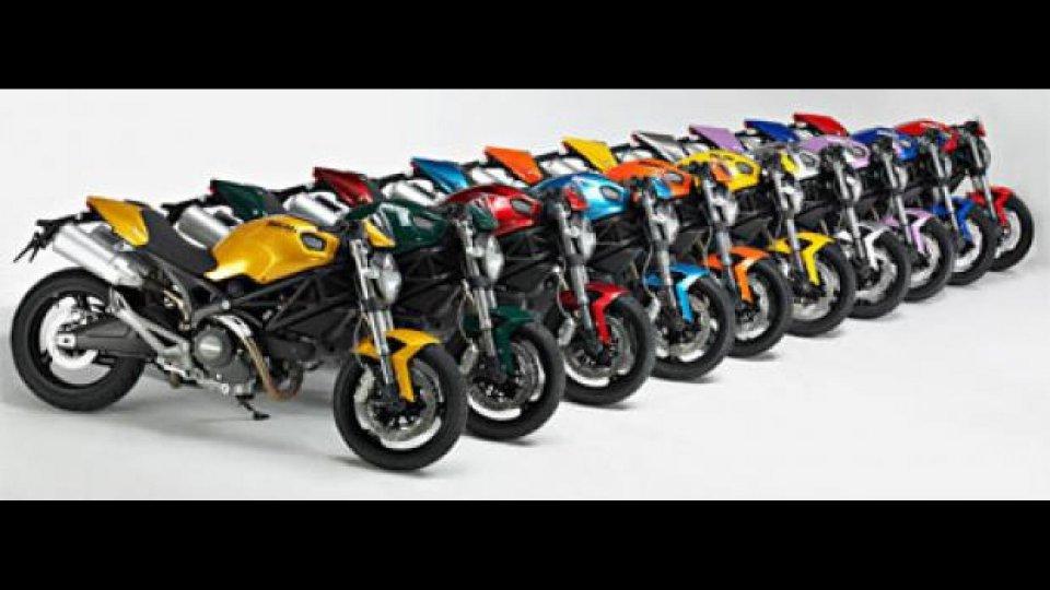 """Moto - News: Ducati """"Monster Art"""": 10 nuovi colori"""