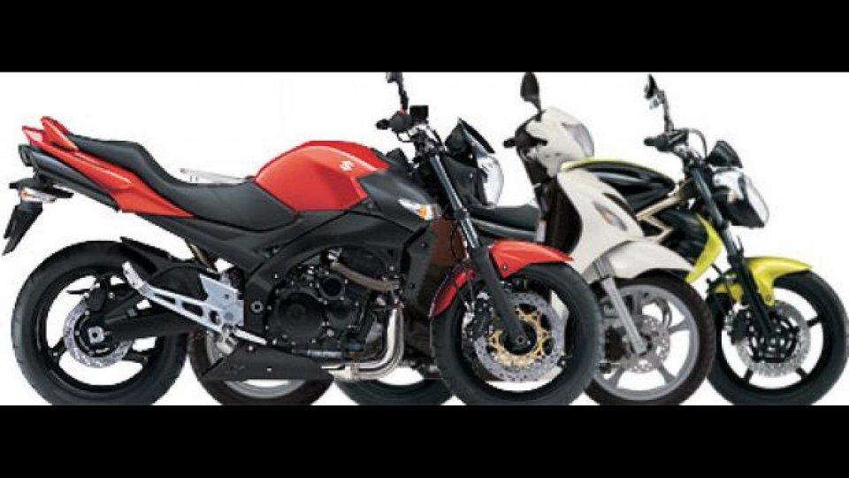 Moto - News: Suzuki: prezzi speciali su GSR, Sixteen e Gladius