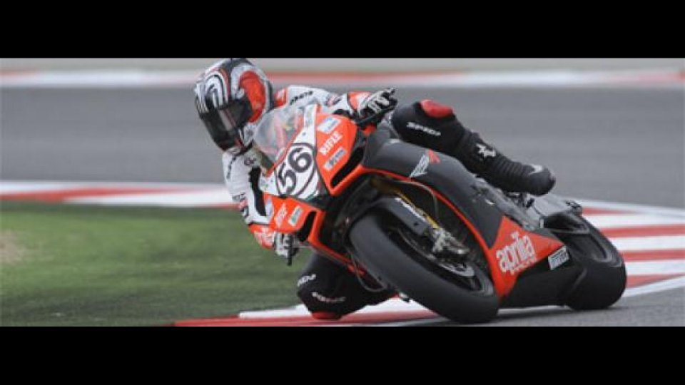 Moto - News: WSBK 2009, Aprilia nei primi 10 a Misano