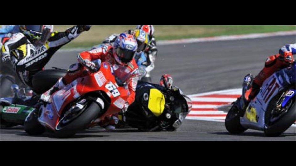 Moto - News: MotoGP 2009: solo un 7° posto per Ducati a Misano