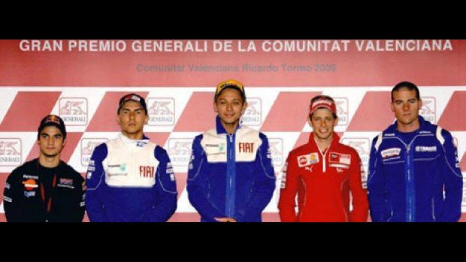Moto - News: MotoGP 2009, Valencia: decelerazioni fino a 1,6 g