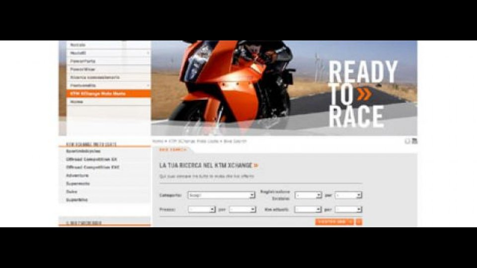 Moto - News: Su Ktm.it arriva il motore di ricerca per l'usato