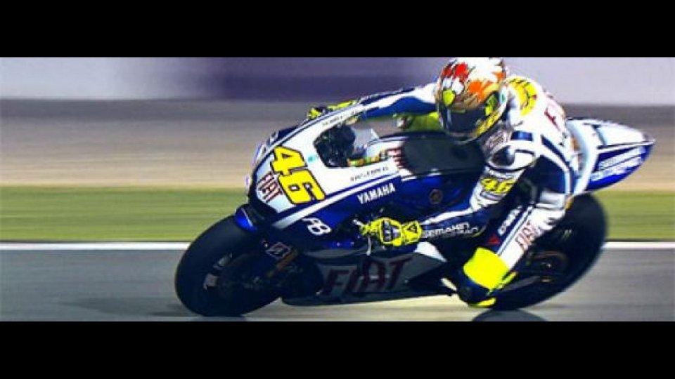 Moto - News: MotoGP 2010, Qatar, Test Night/1: subito Rossi