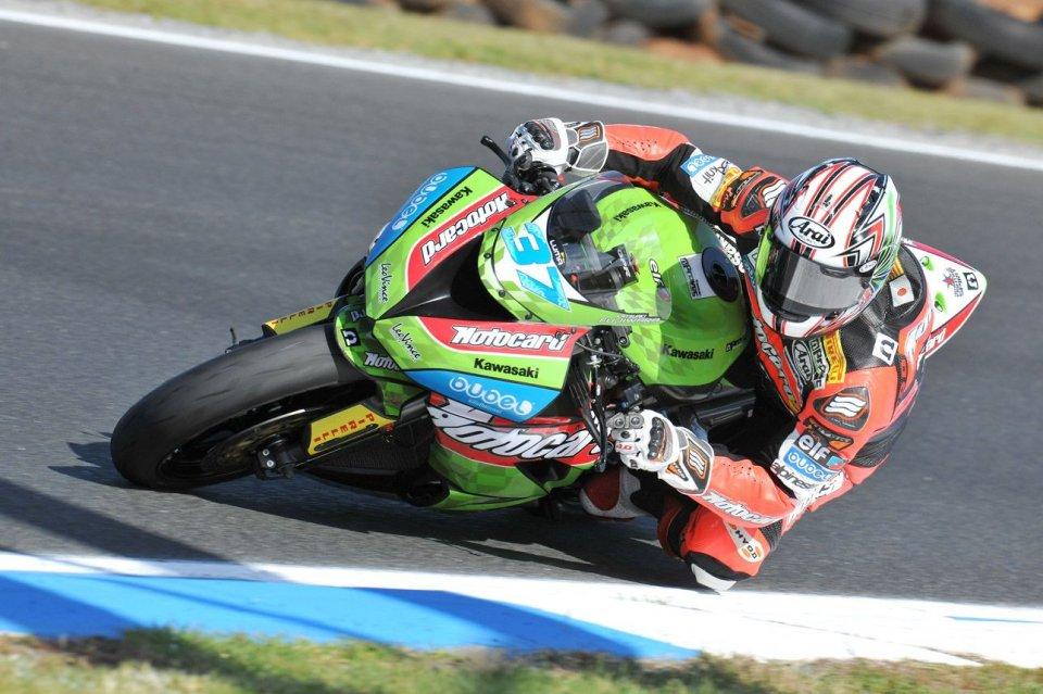 Moto - News: WSS: Le Kawasaki e le Triumph davanti alle Honda