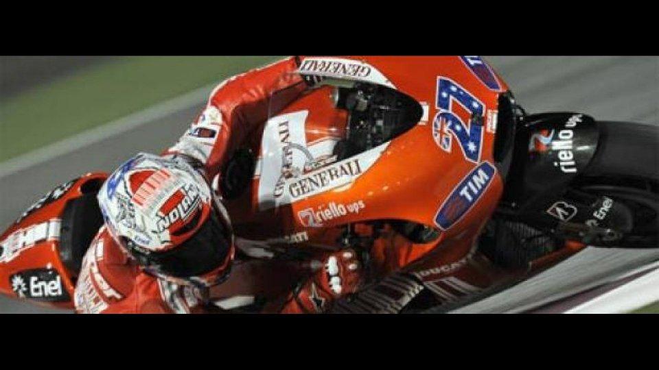 Moto - News: Moto GP 2010, Qatar, FP1: il solito Stoner