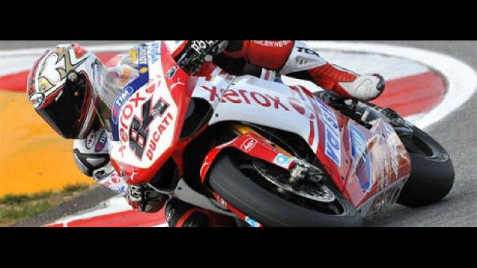 Moto - News: WSBK 2010: Fabrizio chiude in vetta i test di Misano