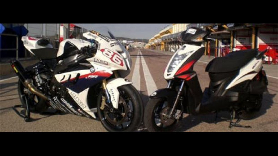 Moto - News: Kymco Agility RS scooter ufficiale del team BMW Superstock 2010