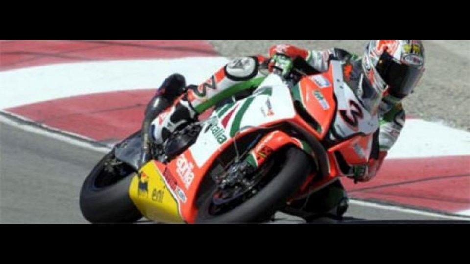 Moto - News: WSBK 2010, Miller, gara-1: Biaggi bravo e fortunato