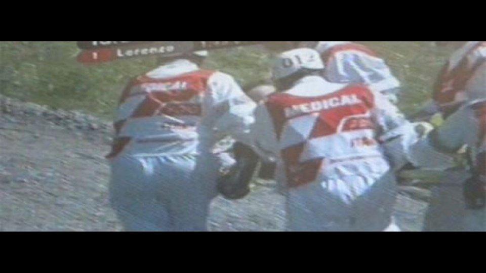 Moto - News: Sospetta frattura della tibia per Valentino Rossi