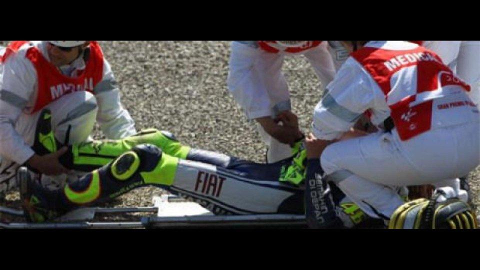 Moto - News: Rossi: frattura scomposta ed esposta della tibia