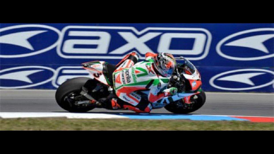 Moto - News: WSBK 2010, Silverstone: Biaggi festeggia le 100 partenze