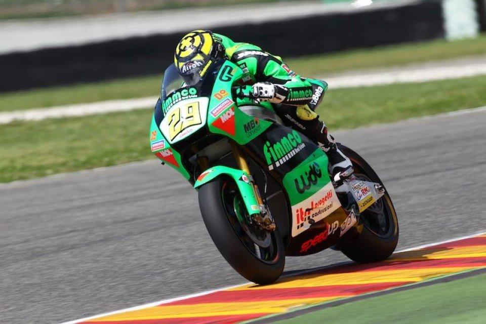 Moto - News: Moto2: Iannone, acciaccato ma veloce