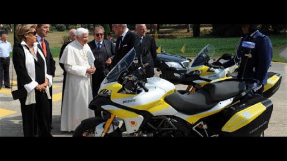 Moto - News: Due Ducati Multistrada per la scorta del Papa