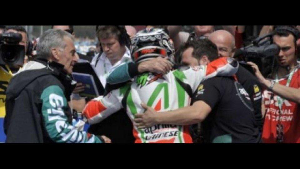 Moto - News: WSBK, Imola, Gara 2: Max Biaggi è Campione del Mondo!