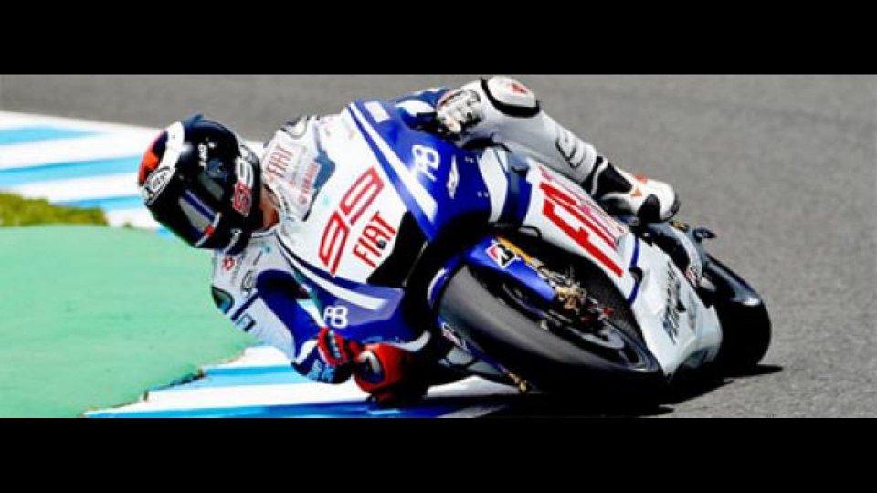 Moto - News: MotoGp, Estoril, libere 2: col sole Lorenzo splende