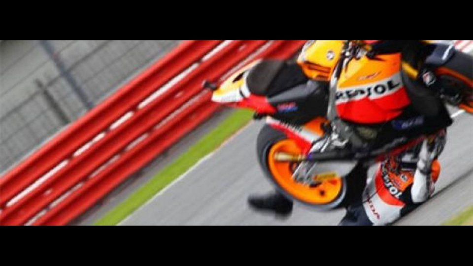 Moto - News: MotoGP, Motegi: Pedrosa cade, addio campionato