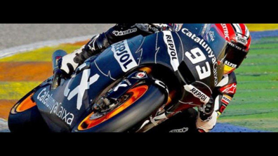 Moto - News: Moto2, test Valencia, Day 3: Marquez davanti