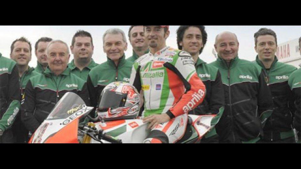 Moto - News: WSBK 2011, Aprilia: Max Biaggi sceglie il numero 1