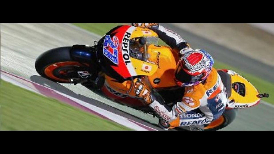 Moto - News: MotoGP 2011, Qatar: Stoner vince e convince
