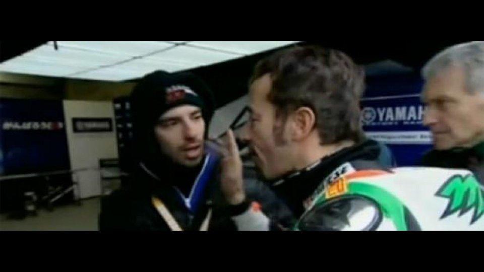 Moto - News: WSBK 2011, Donington: Biaggi si scusa con Melandri
