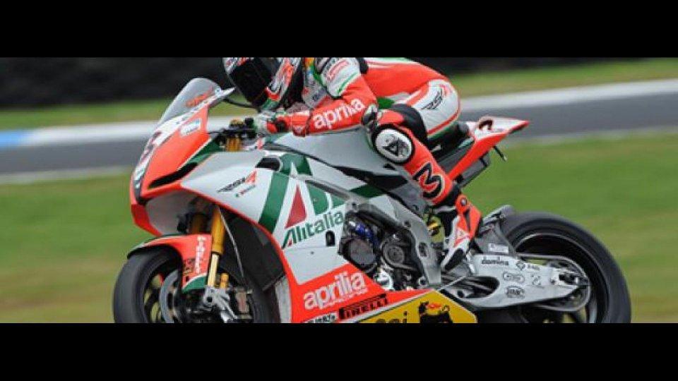 Moto - News: Aprilia Alitalia Racing Team: test al Mugello