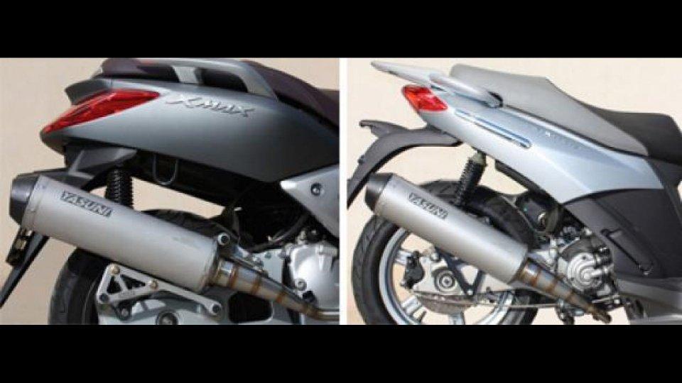 Moto - News: Scarichi Yasuni per Yamaha X-MAX e Aprilia Sportcity