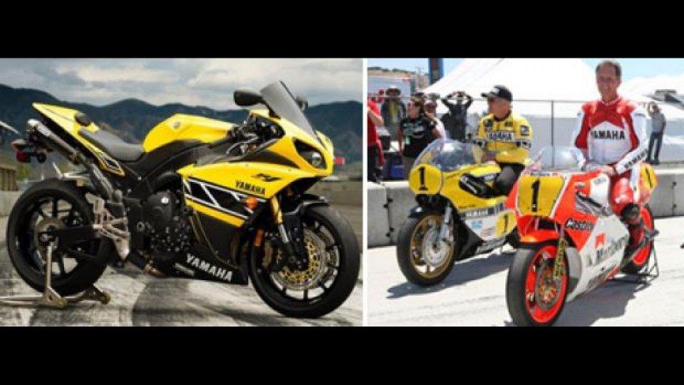 Moto - News: MotoGP 2011: Kenny Roberts e Eddie Lawson in pista a Laguna Seca