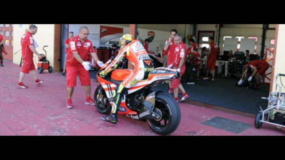 Moto - News: MotoGP: Valentino Rossi in azione al Mugello