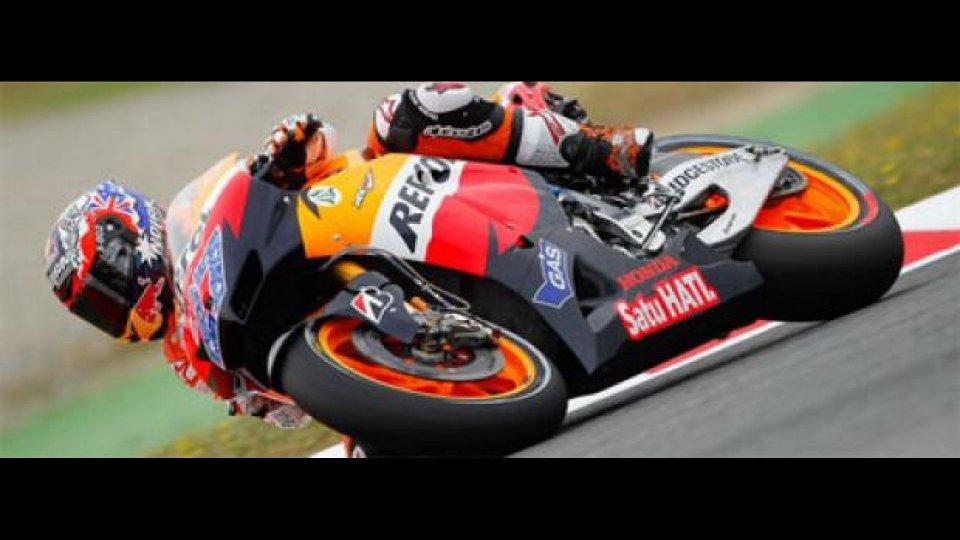 Moto - News: MotoGP, Catalunya, Libere2: Stoner non molla