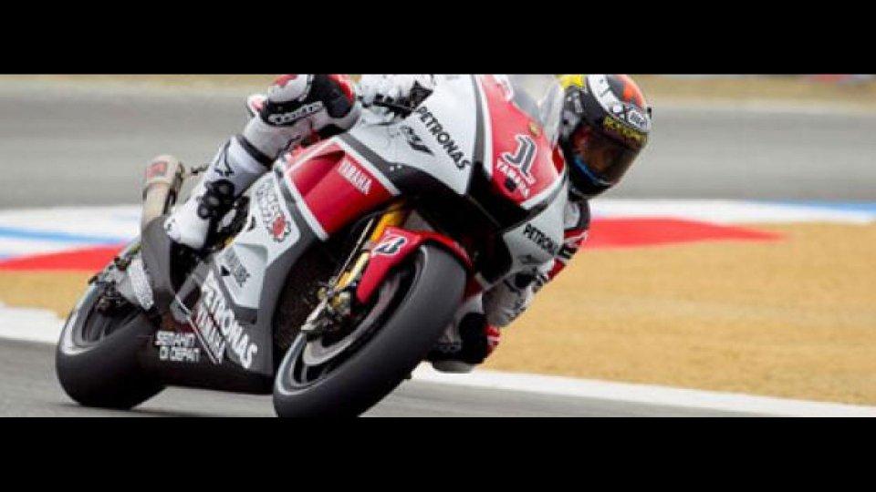 Moto - News: MotoGp, Laguna Seca, Libere 2: Lorenzo precede le Honda